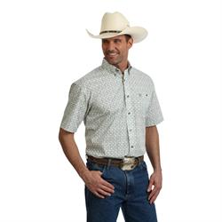 Wrangler George Strait Green and Brown Swirl Shirt