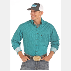 Tuf Cooper Performance By Panhandle Turquoise Print