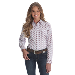 George Strait For Her Top White/Navy/Red Floral