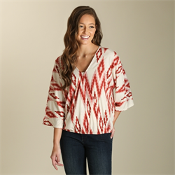 Wrangler® Western Knit Fashion Top with Aztec Design