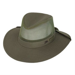 WW/HAT/OUTBACK/1470/SZ L/ OLIVE POLY/COT RIVER GUIDE W/MESH