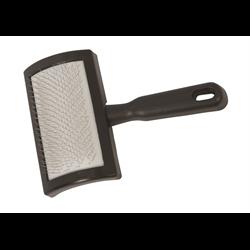 LVSTK/GROOM/WV/69-6002-BK/PLASTIC LAMB SLICKER BRUSH BLACK