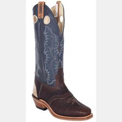 Canada West Men's Brahma Buckaroo Navy Deertan Cowboy Boots