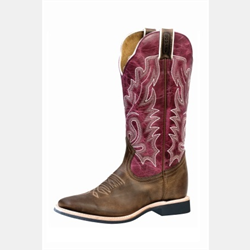 Boulet Women's Lava Magenta Square Toe Western Boot
