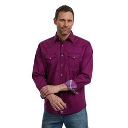 Wrangler Men's 20X Competition Advanced Comfort Purple Black Shirt