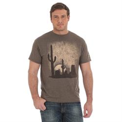 Wrangler Retro® Premium Brown with Cactus Print TShirt