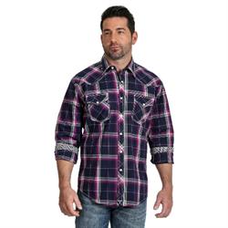 Wrangler Men's Advanced Comfort Competition Blue Turquoise Shirt