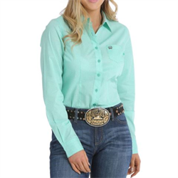 Cinch Women's Western Shirt Mint Geo Print