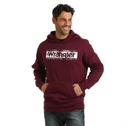 Wrangler Men's Maroon With Logo Hoodie