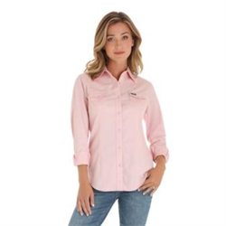 Wrangler Ladies Western Fashion Pink Shirt