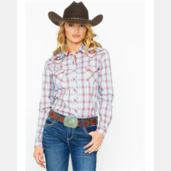 Panhandle Women's Tabor Vintage Plaid Western Shirt