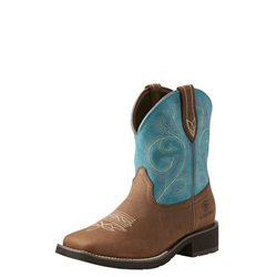 Ariat Women's Fatbaby Shasta H20 Baked Brown Turquoise Boots