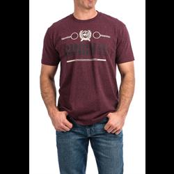 Cinch Classic Crew Neck Logo T Shirt Plum