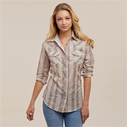 Wrangler Womens Floral Fashion Shirt