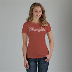 Wrangler Ladies Logo Rust T Shirt