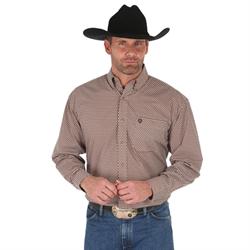 George Strait Western Shirt Brown Black