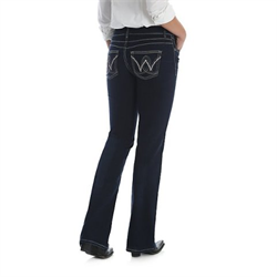 Wrangler Women's Retro Booty Up Mae Dark Jean